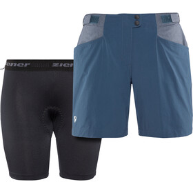 Ziener Nariam X-Function Shorts Dame antique blue